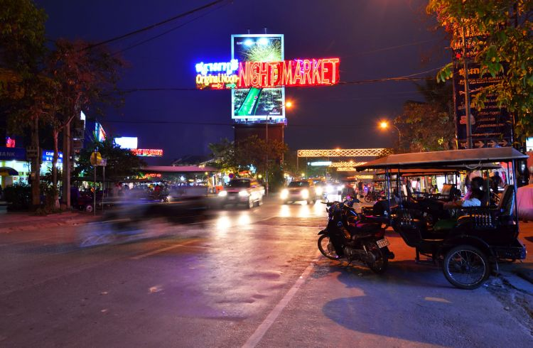 Night market in Siem Reap