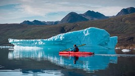 Kayaking in the Shadow of Giants in Southern Greenland