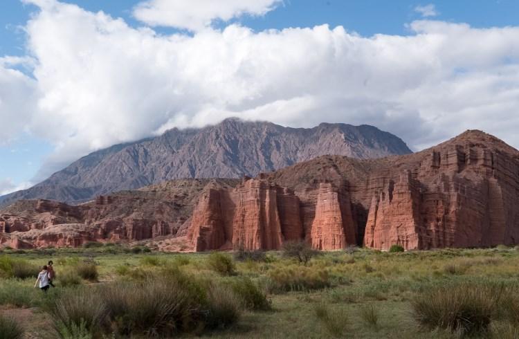 Dramatic rock formations in Quebrada de las Conchas, in the Argentine province of Salta.
