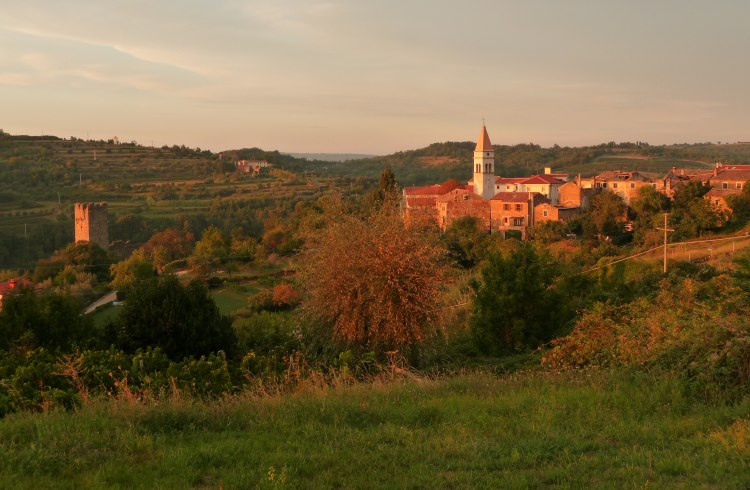 The village of Momjan in the interior of Croatia's Istrian peninsula.