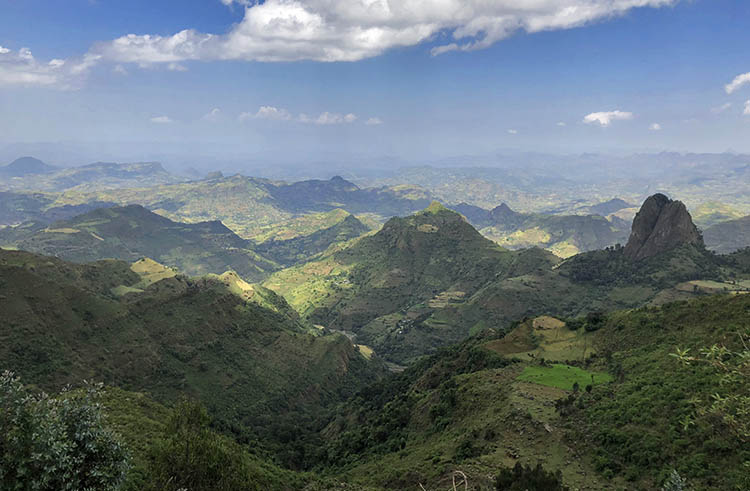 The Simien Mountains of Ethiopia.