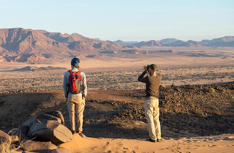 Looking out over the vast landscapes in Northern Namibia
