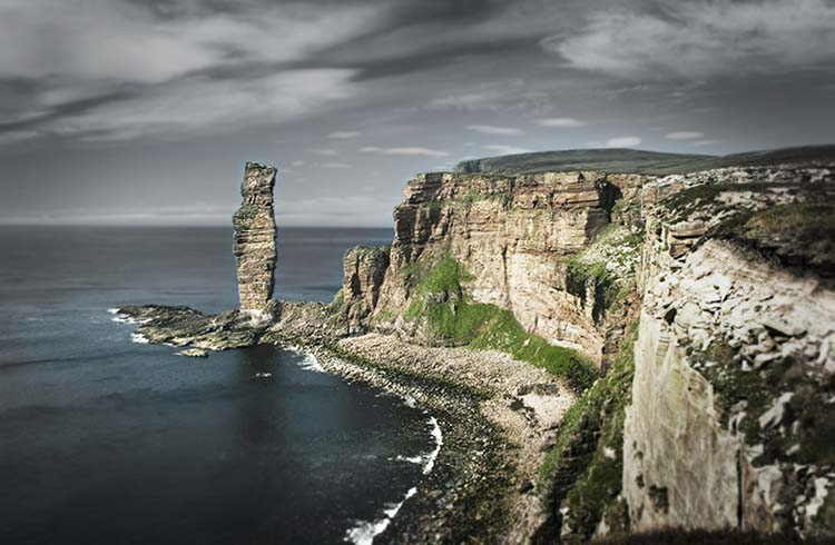 The Old Man of Hoy, a sea stack in the Orkney Archipelago.