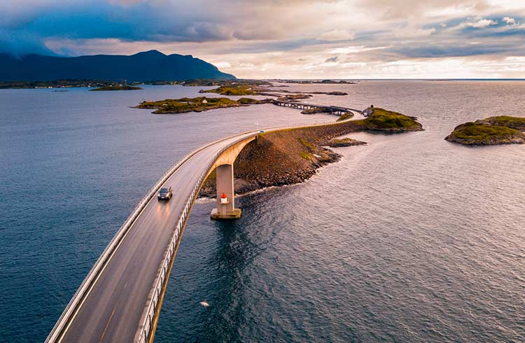Storseisundet Bridge on the Atlantic Ocean Road, Norway