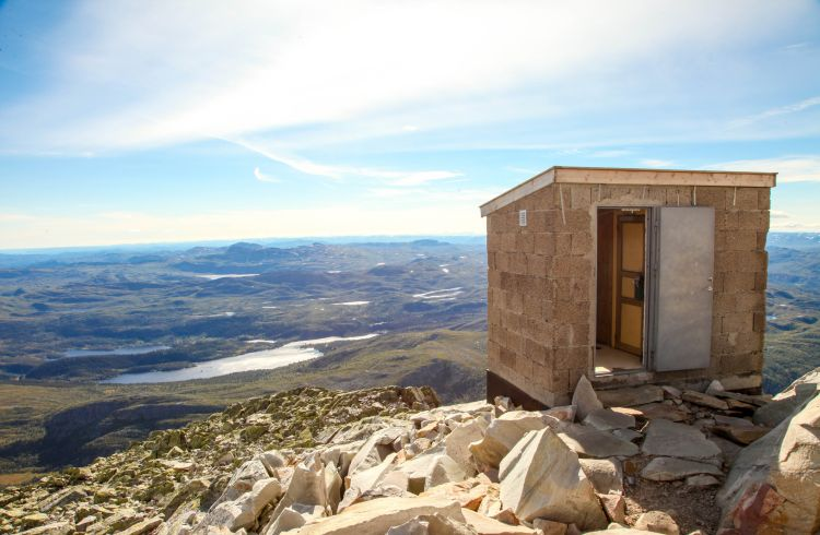 A remote toilet block with a beautiful view
